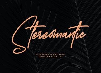 Stereomantic Font