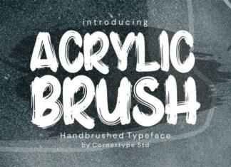 Acrylic Brush Font