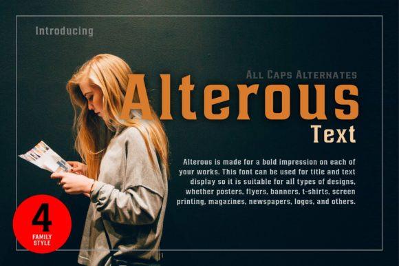 Alterous Text Font