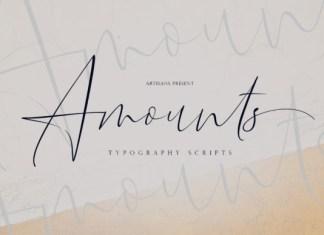 Amounts Font