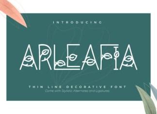Arleafia Font