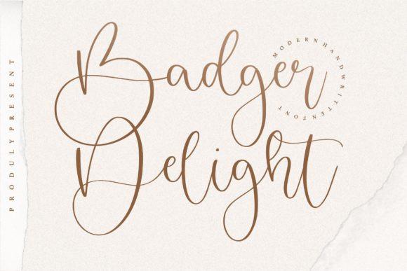 Badger Delight Font