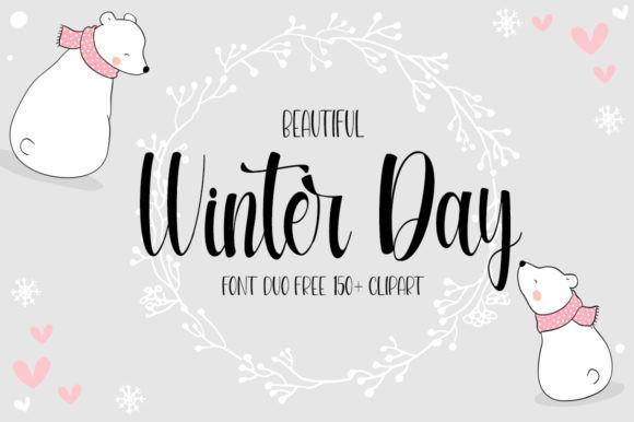 Beautiful Winter Day Font