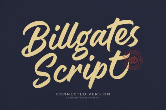 Billgates Script Font
