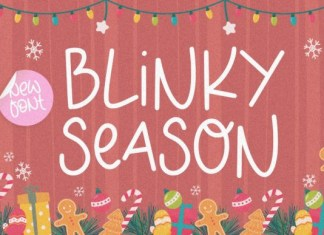 Blinky Season Font