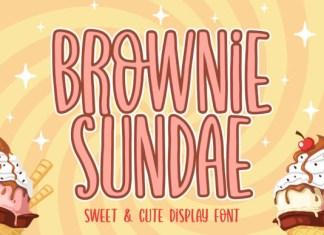 Brownie Sundae Font
