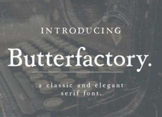 Butterfactory Font
