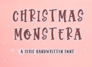 Christmas Monstera Font