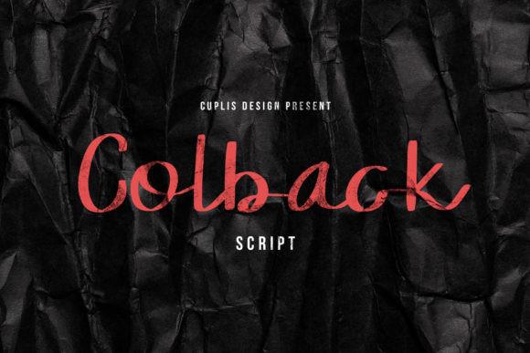 Colback Font