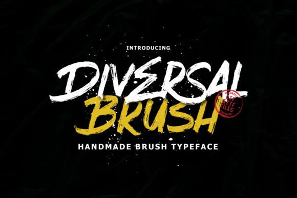 Diversal Brush Font