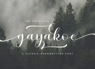 Gayakoe Font