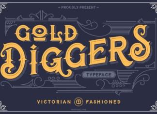 Gold Diggers Font