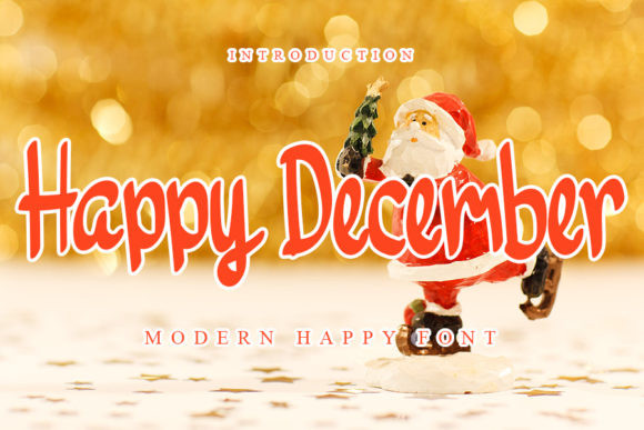 Happy December Font