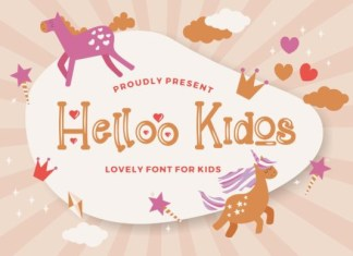Helloo Kidos Font
