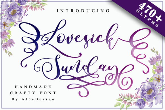 Lovesick Sunday Font