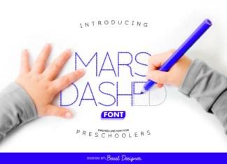 Mars Dashed Font
