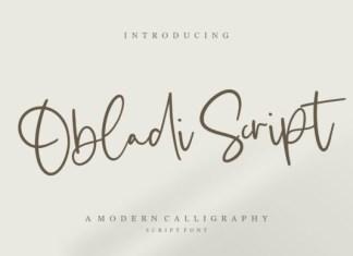 Obladi Script Font