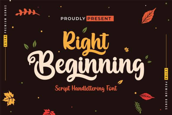 Right Beginning Font