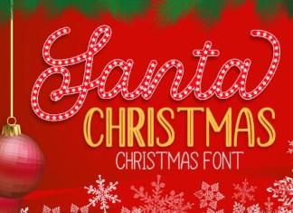 Santa Christmas Font