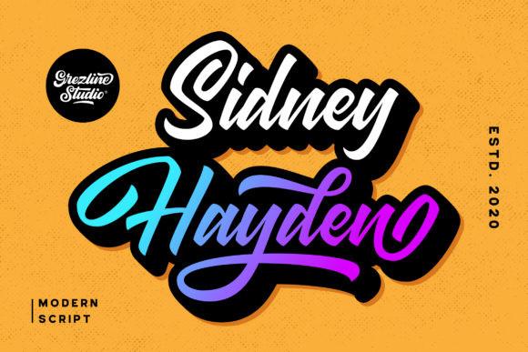 Sidney Hayden Font