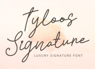 Tyloos Signature Font