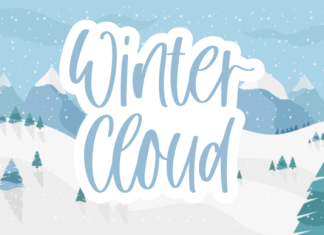 Winter Cloud Font