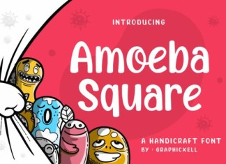 Amoeba Square Font