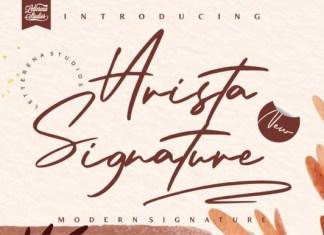 Arista Signature Font