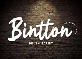 Bintton Font
