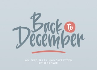 Back to December Font