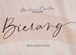 Bierang Font