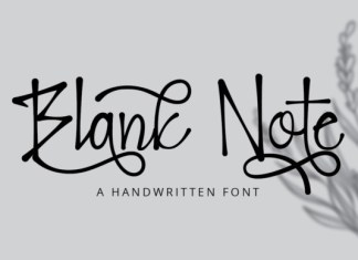 Blank Note Font