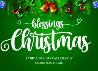 Christmas Blessings Font