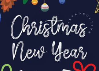 Christmas New Year Font