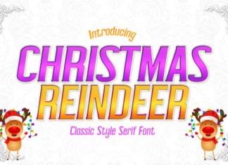 Christmas Reindeer Font