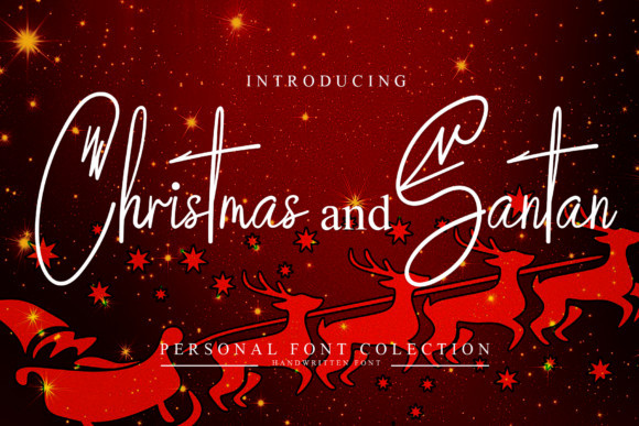 Christmas and Santan Font