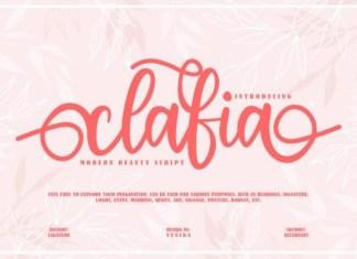 Clafia Font