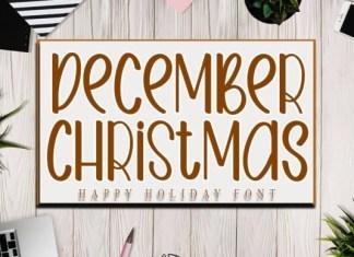 December Christmas Font