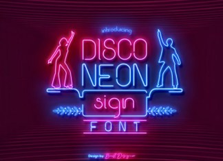 Disco Neon Sign Font