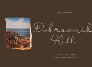 Dubrovnik Hill Font