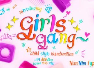 Girls Gang Font