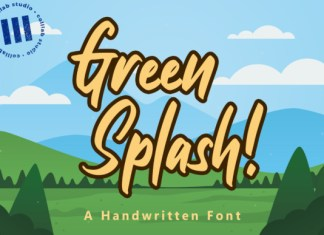 Green Splash Font