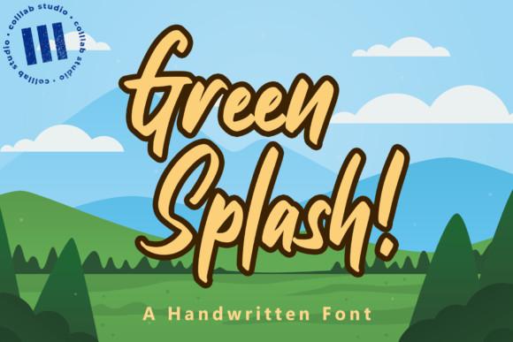Green Splash Font