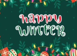 Happy Winter Font