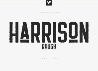 Harrison Rough Font