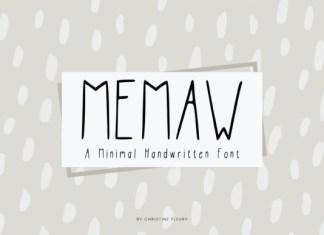 MeMaw Font