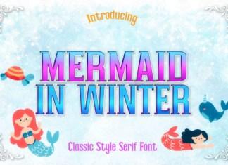 Mermaid in Winter Font