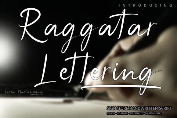 Raggatar Lettering Font