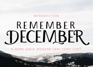 Remember December Font