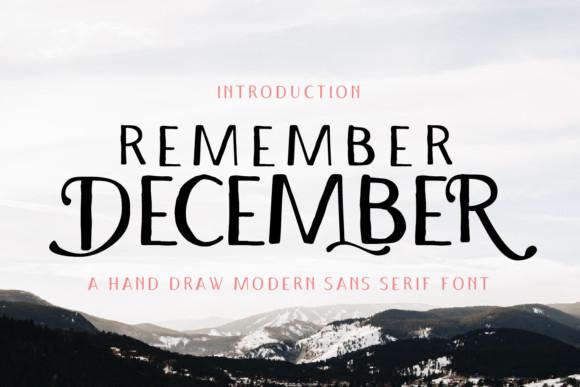 Remember December Font